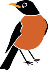 Big Lakes Lawncare logo bird